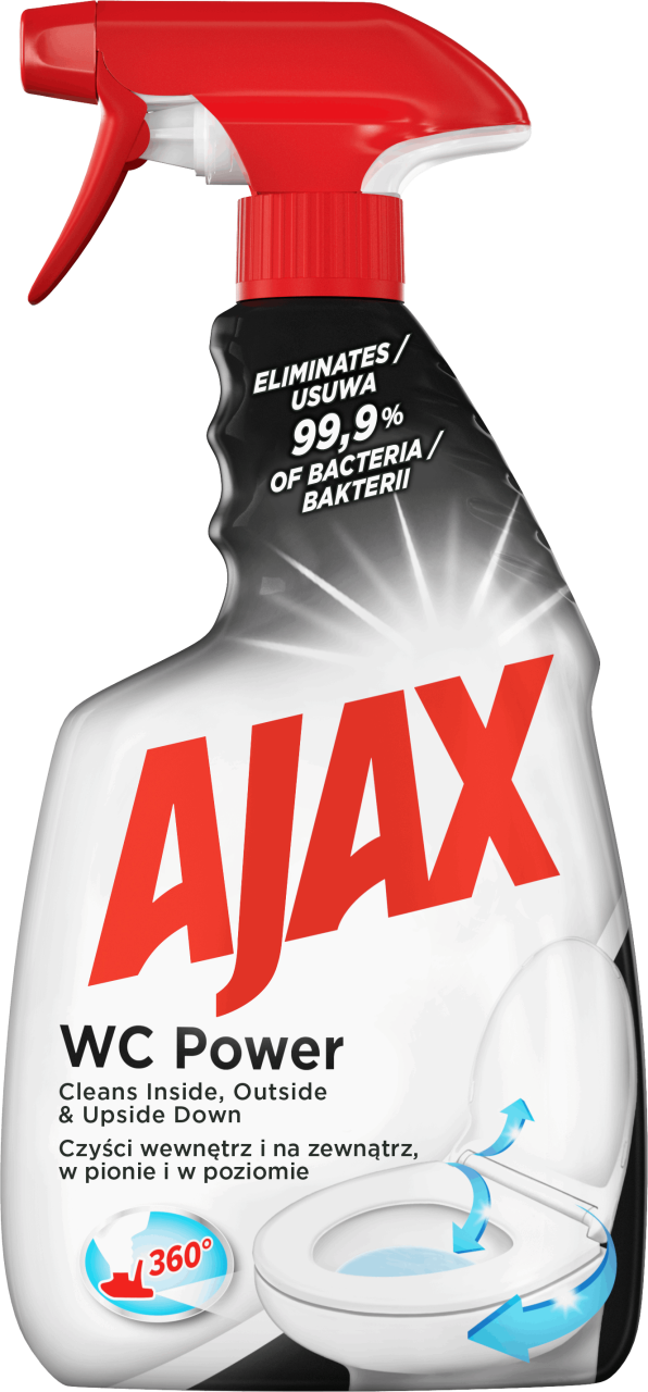 Ajax Wc Power Spray Do Czyszczenia Toalet 500 Ml Drogeria Rossmann