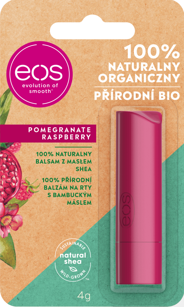 Eos 100 Naturalny Organiczny Naturalny Balsam Z Maslem Shea Pomagranate Raspberry 4 G Drogeria Rossmann Pl