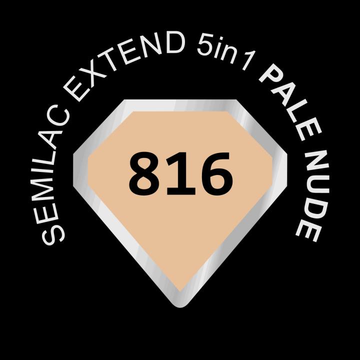 SEMILAC, Extend 5in1, lakier hybrydowy UV nr 816 Pale Nude