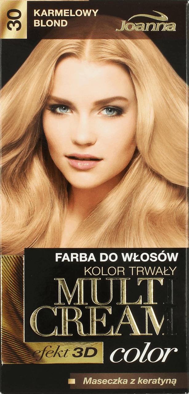 Joanna Multi Cream Color Farba Do Wlosow Nr 30 Karmelowy Blond 1