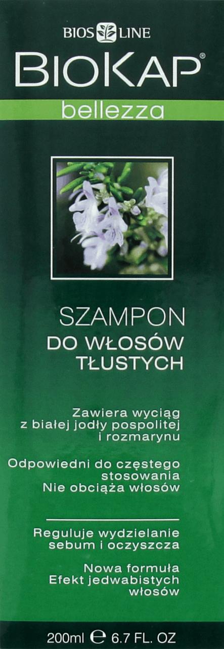 Biokap Belleza Szampon Do Wlosow Tlustych 200 Ml Drogeria Rossmann