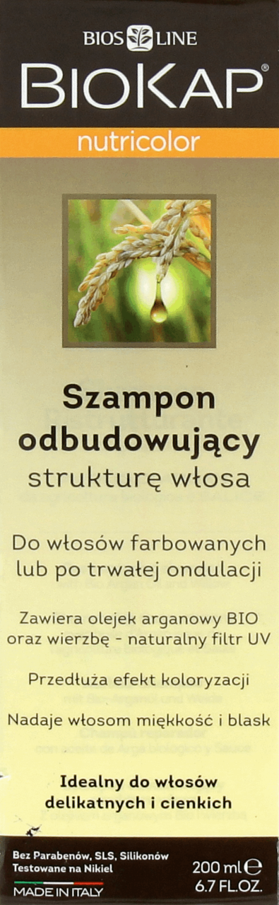 Biokap Nutricolor Szampon Odbudowujacy Strukture Wlosow