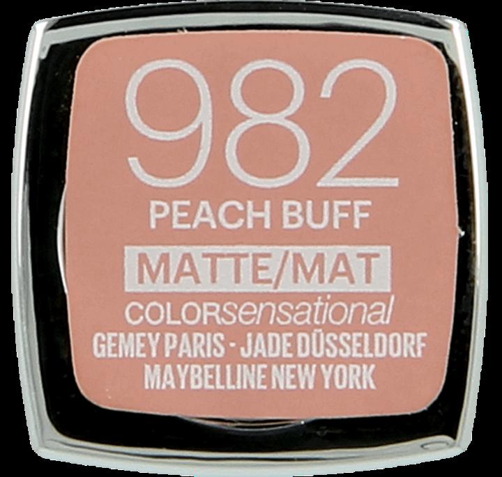 Maybelline, Color Sensational, Matte, szminka, nr 982, Peach Buff, 1 szt.,  nr kat. 261837