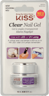 Kiss,  żel UV/LED  bezbarwny, 15 ml, nr kat. 268632