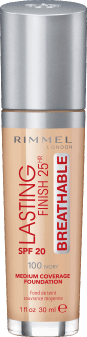 Rimmel, Lasting Finish 25HR Breathable, podkład, SPF 20, 100 Ivory, 30 ml, nr kat. 275367