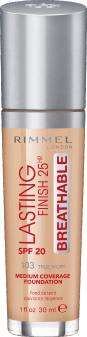 Rimmel, Lasting Finish 25HR Breathable, podkład, SPF 20, 103 True Ivory, 30 ml, nr kat. 275370