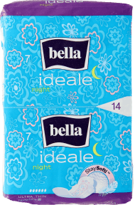Bella, Ideale, ultracienkie podpaski higieniczne, Night, 14 szt., nr kat. 273514