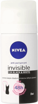 NIVEA,  antyperspirant, Invisible for Black&White Clear, 35 ml, nr kat. 148080