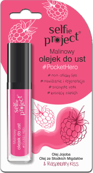 Selfie Project, PocketHero, malinowy olejek do ust, 6 g, nr kat. 270395