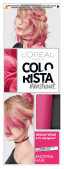 L'Oréal Paris, Colorista Washout, zmywalna farba do włosów, Hotpink Hair, 1 szt., nr kat. 279788