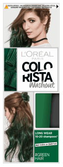 L'Oréal Paris, Colorista Washout, zmywalna farba do włosów, Green Hair, 1 szt., nr kat. 279792