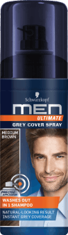 Schwarzkopf, Men Ultimate, spray do włosów, Medium Brown, 120 ml, nr kat. 278344