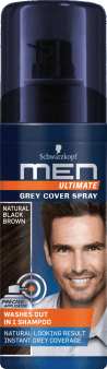 Schwarzkopf, Men Ultimate, spray do włosów, Natural Black Brown, 120 ml, nr kat. 278345