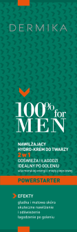 Dermika, 100% for men, nawilżający hydro-krem do twarzy, 2w1, 100 ml, nr kat. 276254