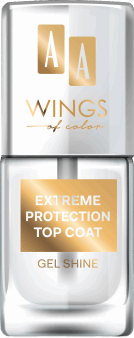 AA, Wings of Color, Extreme Protection Top Coat, Gel Shine, lakier nawierzchniowy, 11 ml, nr kat. 282138