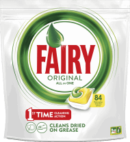Fairy, Original All In One Lemon,  tabletki do zmywarki, 84 szt., nr kat. 280883