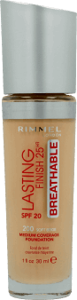 Rimmel, Lasting Finish 25HR Breathable, podkład, 200 Soft Beige, 30 ml, nr kat. 275371