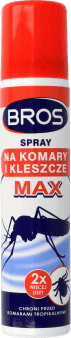 Bros,  spray na komary i kleszcze, max, 90 ml, nr kat. 262321