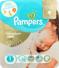 Pampers, Premium Care, pieluchy, 1 New Baby, 2-5 kg, 22 szt., nr kat. 275430