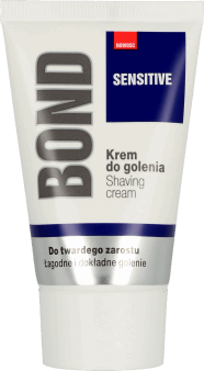 Bond, Sensitive, krem do golenia do twardego zarostu, 50 ml, nr kat. 288988