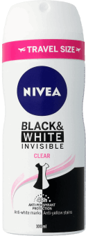 NIVEA, Invisible for Black&White, antyperpirant w sprayu dla kobiet, 100 ml, nr kat. 290481