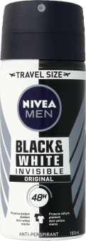 NIVEA MEN, Invisible for Black&White, antyperspirant w sprayu, Original, 100 ml, nr kat. 290479