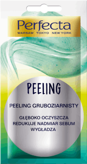 Perfecta,  peeling gruboziarnisty do twarzy, 8 ml, nr kat. 285251