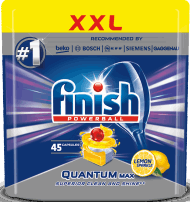 Finish, Quantum Max, tabletki do zmywarki, lemon, 54 szt., nr kat. 212065