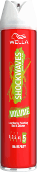 Wella, Shockwaves, lakier do włosów, Volume, 250 ml, nr kat. 43547