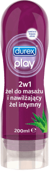 Durex, Play, żel intymny i do masażu, 2w1, 200 ml, nr kat. 44784