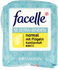 Facelle,  podpaski ultra normal, rumiankowe, 16 szt., nr kat. 123972
