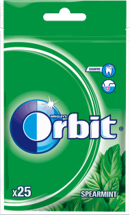 Orbit, Spearmint, guma do żucia w drażetkach, 25 szt., nr kat. 40380