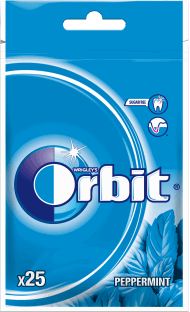 Orbit, Peppermint, guma do żucia w drażetkach, 25 szt., nr kat. 44982