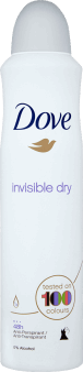 Dove, Invisible, antyperspirant w sprayu, Invisible Dry, 250 ml, nr kat. 153767