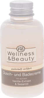 Wellness & Beauty,  kremowy żel pod prysznic wanilia, 60 ml., nr kat. 202315