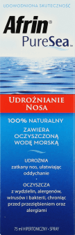 Afrin, PureSea, spray do nosa, udrożnia zatkany nos, 75 ml, nr kat. 220400