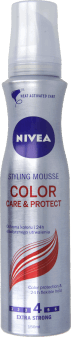 NIVEA, Color Care & Protect, pianka do włosów farbowanych, extra strong, 150 ml, nr kat. 219249