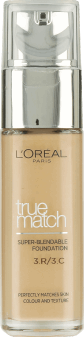 L'Oréal Paris, True Match, podkład, 3C beige rose, 30 ml, nr kat. 227908
