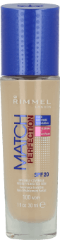 Rimmel, Match Perfection, podkład do twarzy, SPF 20, nr 100 ivory, 30 ml, nr kat. 219293