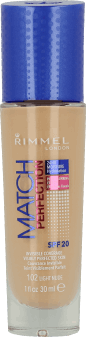 Rimmel, Match Perfection, podkład do twarzy, SPF 20, nr 102 light nude, 30 ml, nr kat. 219294