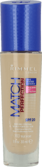 Rimmel, Match Perfection, podkład do twarzy, SPF 20, nr 103 true ivory, 30 ml, nr kat. 219295