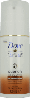 Dove, Advanced Hair Series, Quench Absolute, serum do włosów falowanych i kręconych, 100 ml, nr kat. 234975