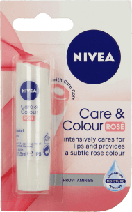 NIVEA, Care&Colour, pomadka, Rose, 4,8 g, nr kat. 235754