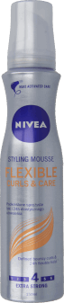 NIVEA, Flexible Curls & Care, pianka do włosów, extra strong, 150 ml, nr kat. 34741
