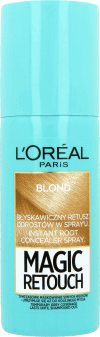 L'Oréal Paris, Magic Retouch, błyskawiczny retusz odrostów w spray'u, blond, 75 ml, nr kat. 248445