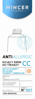 Mincer Pharma, Anti-allergic, kojący krem do twarzy, cera wrażliwa, 50 ml, nr kat. 245694