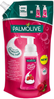 Palmolive, Magic Softness, mydło do rąk w piance, malina, zapas, 500 ml, nr kat. 245504