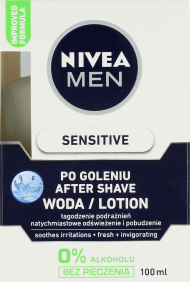 NIVEA MEN, Sensitive, woda po goleniu, 100 ml, nr kat. 22417