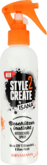 Isana, Style 2 Create, spray termoochronny do włosów, 200 ml, nr kat. 254933