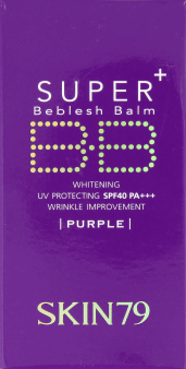 Skin 79,  BB krem super+, purple, SPF 40+, 40 g,, nr kat. 233535